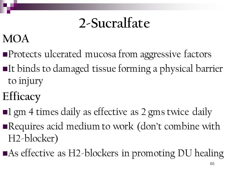 2-Sucralfate MOA Efficacy