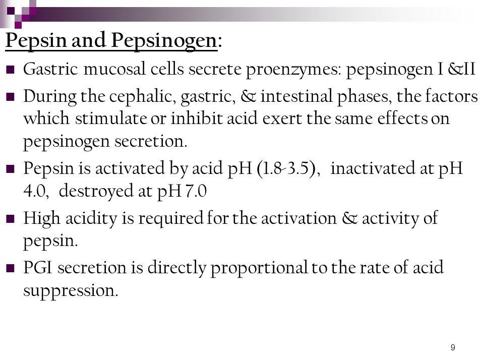 Pepsin and Pepsinogen: