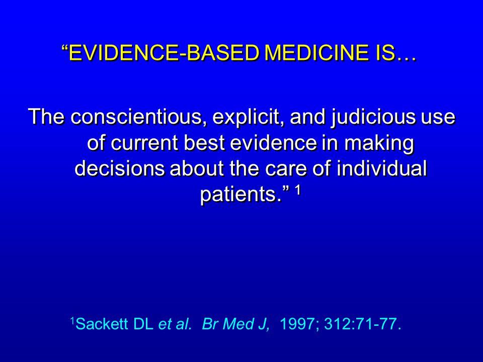 EVIDENCE-BASED MEDICINE IS…
