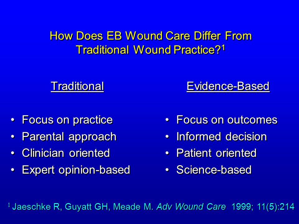 How Does EB Wound Care Differ From Traditional Wound Practice 1