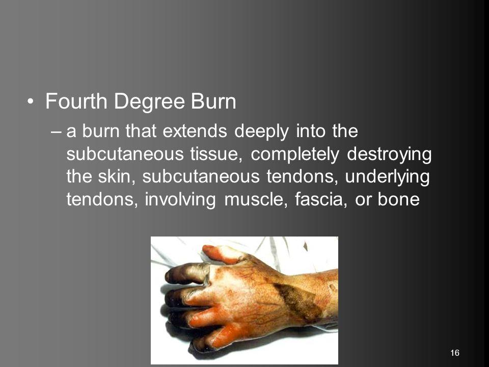 Fourth Degree Burn