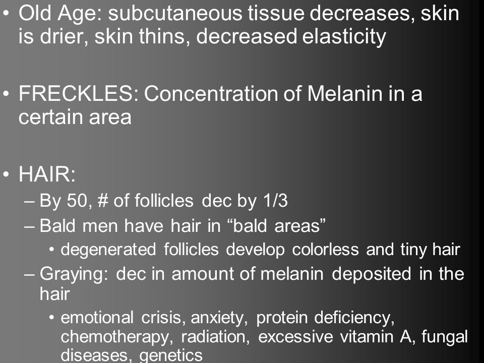 FRECKLES: Concentration of Melanin in a certain area