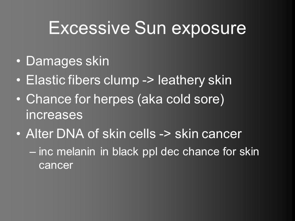 Excessive Sun exposure