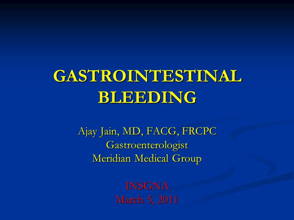GASTROINTESTINAL BLEEDING
