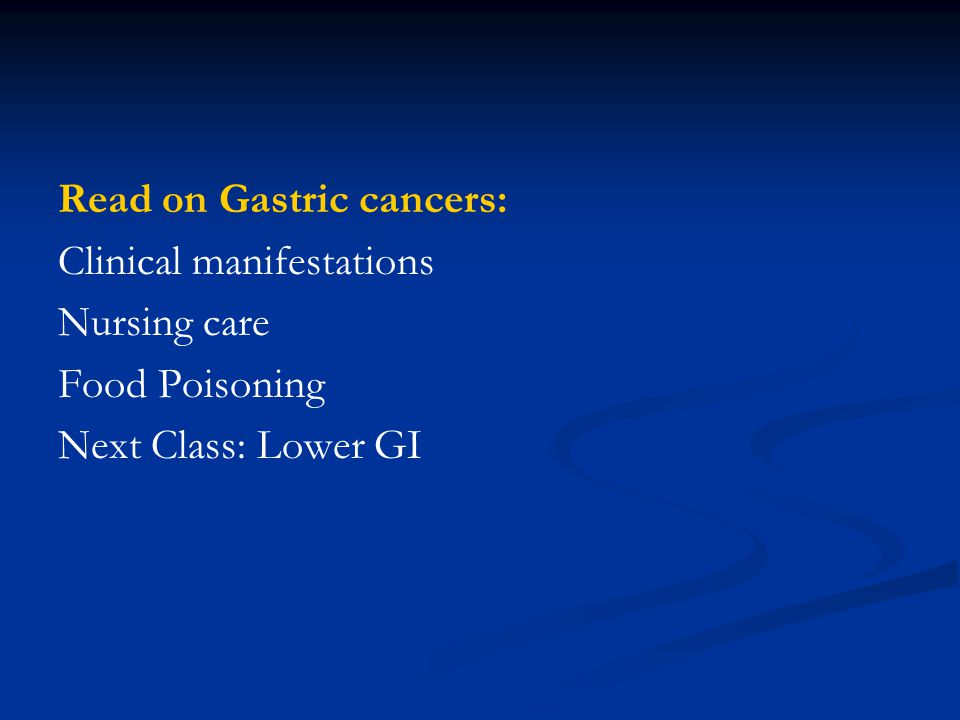 Read on Gastric cancers:
