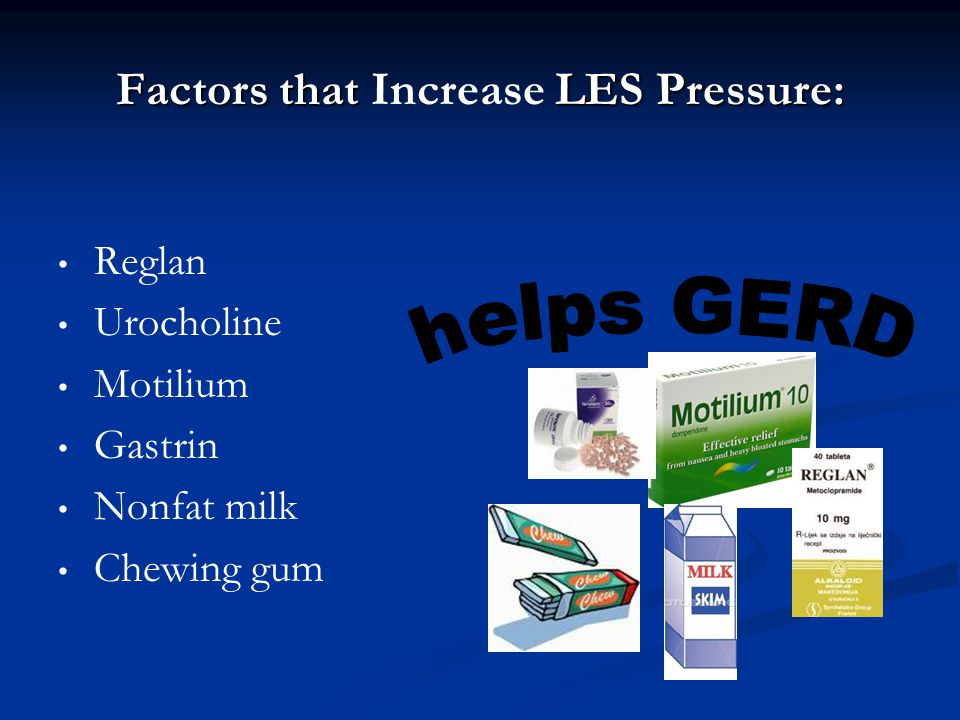 Factors that Increase LES Pressure: