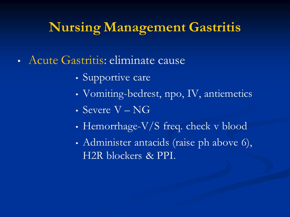 Nursing Management Gastritis