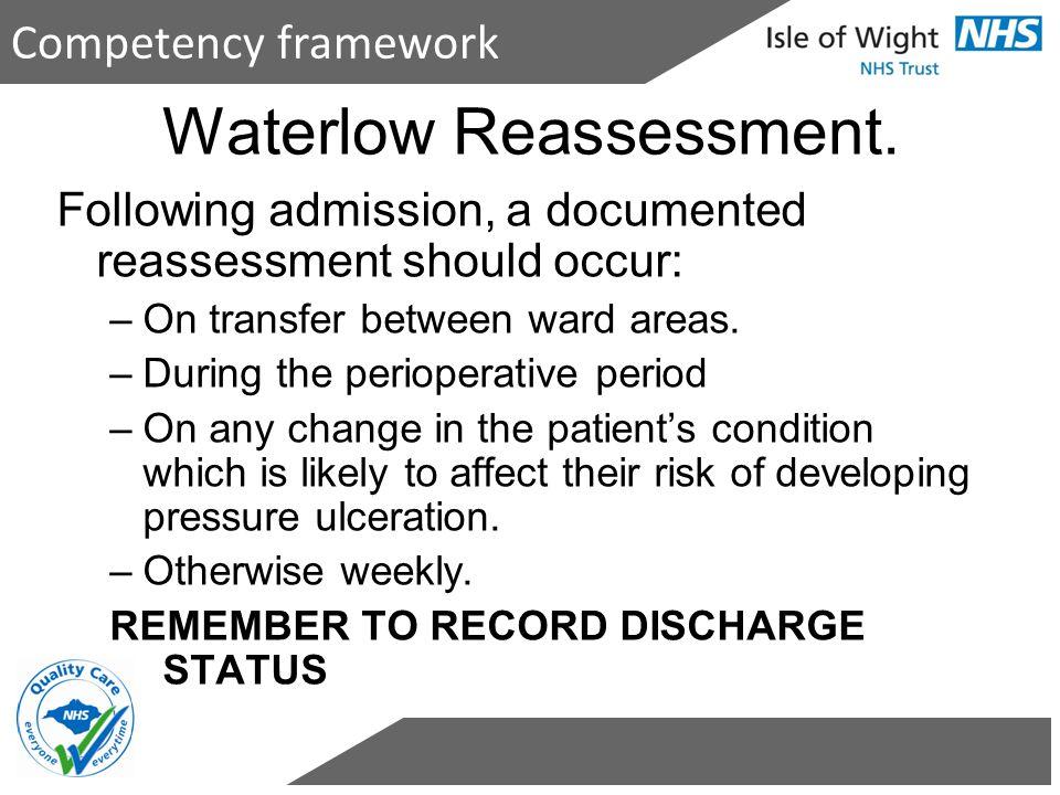 Waterlow Reassessment.