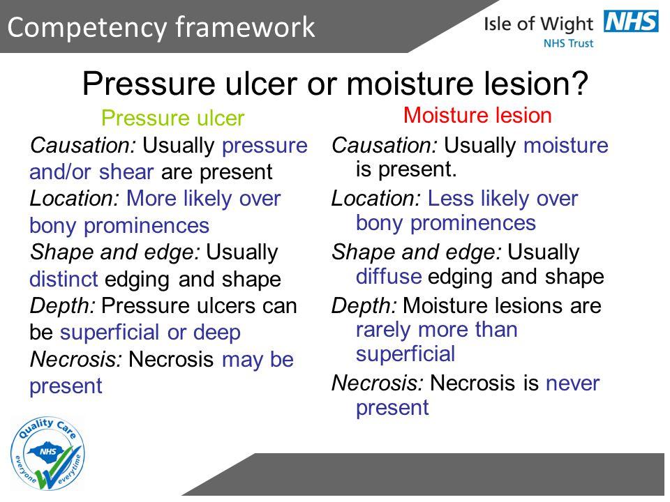 Pressure ulcer or moisture lesion