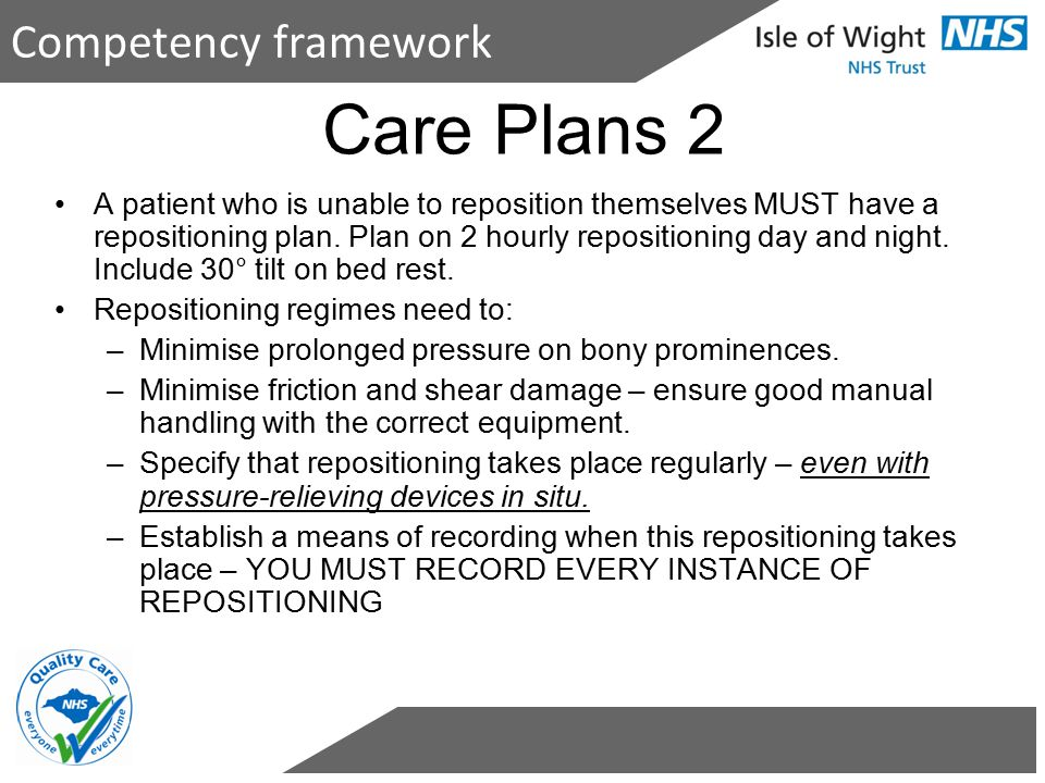 Care Plans 2 Competency framework