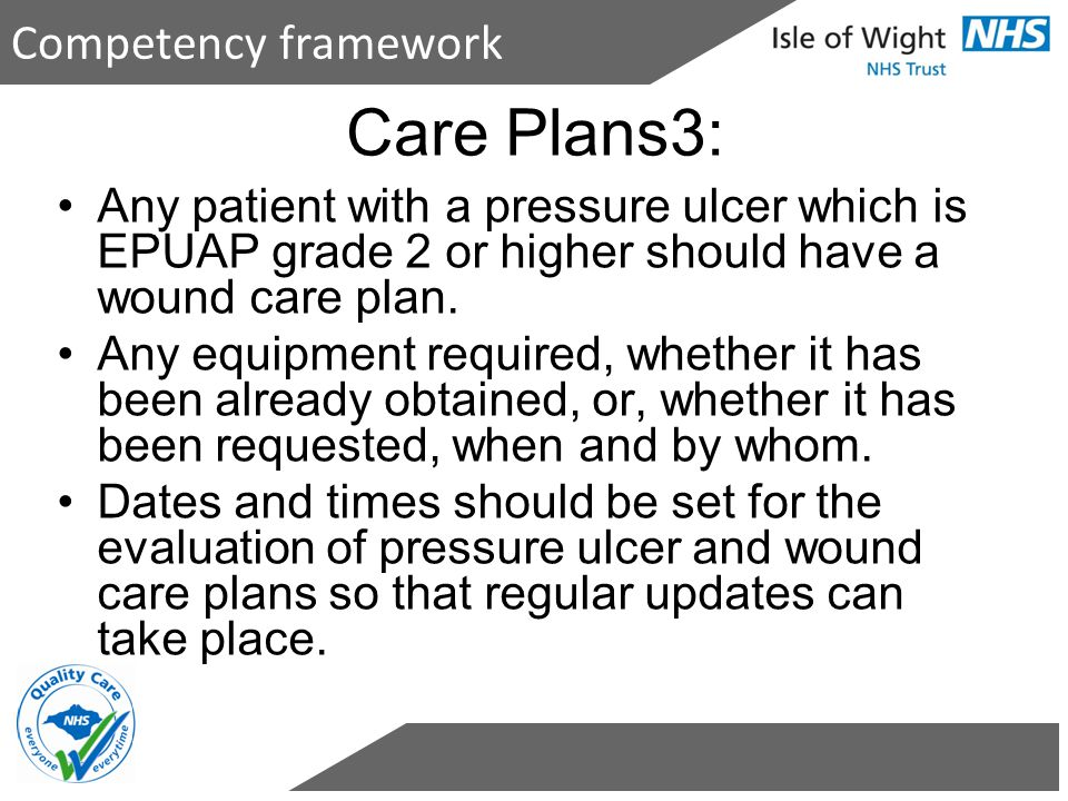 Care Plans3: Competency framework