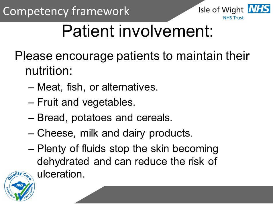 Patient involvement: Competency framework