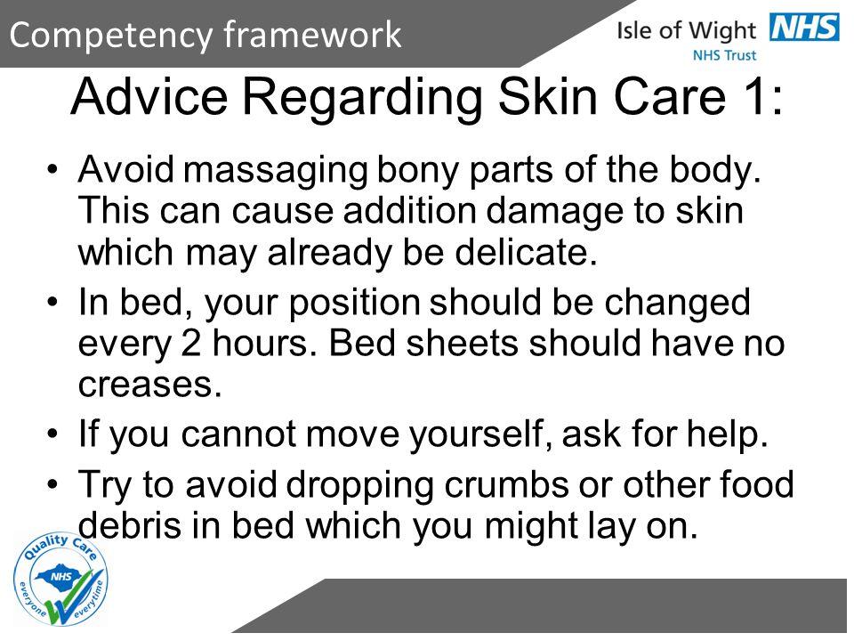 Advice Regarding Skin Care 1: