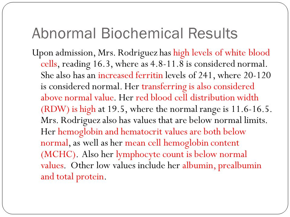 Abnormal Biochemical Results