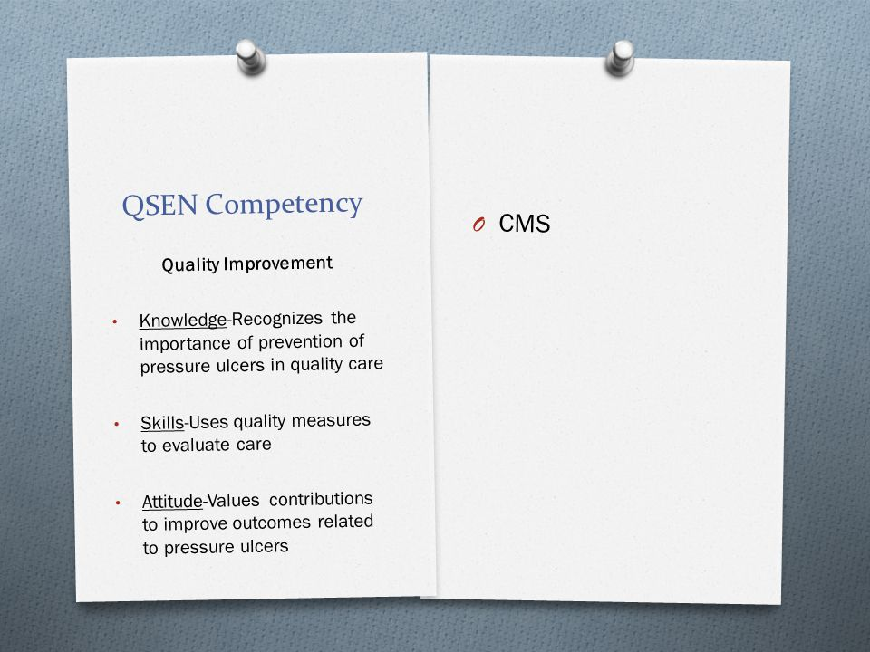 QSEN Competency CMS Quality Improvement