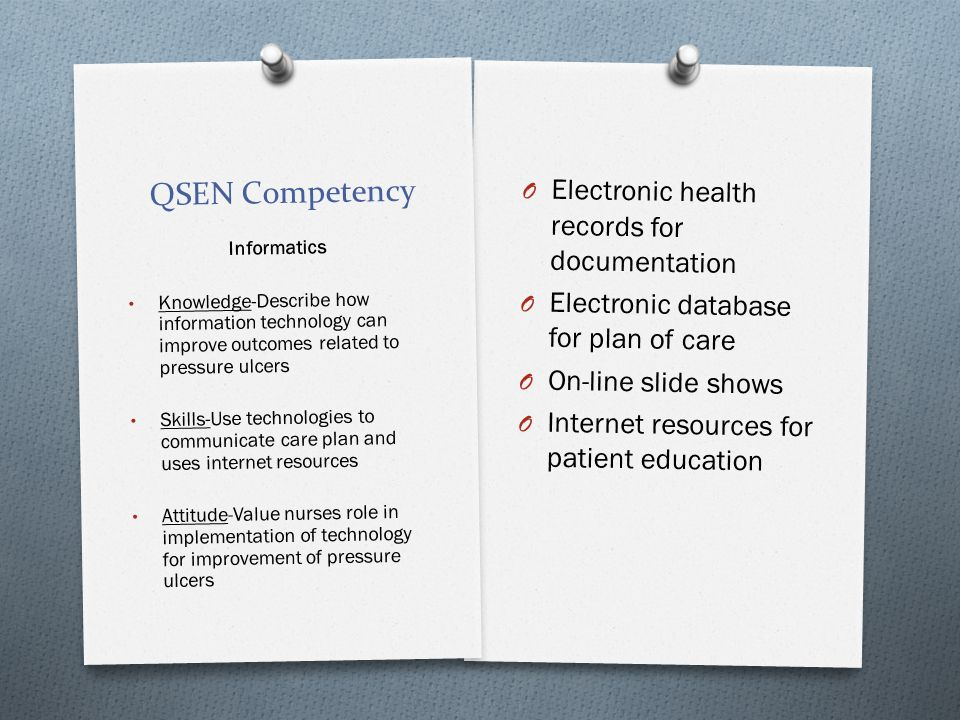 QSEN Competency Electronic health records for documentation
