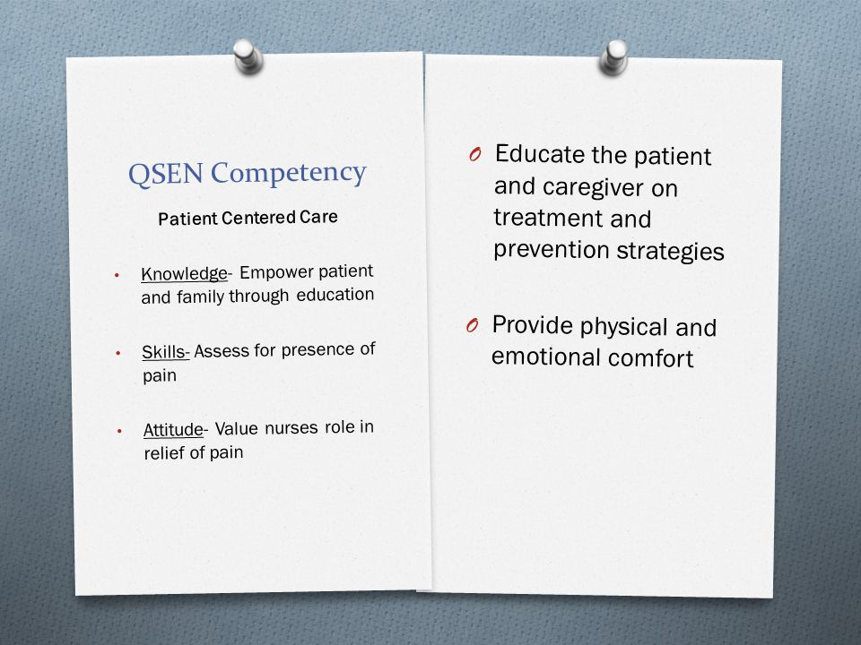 Educate the patient and caregiver on treatment and prevention strategies