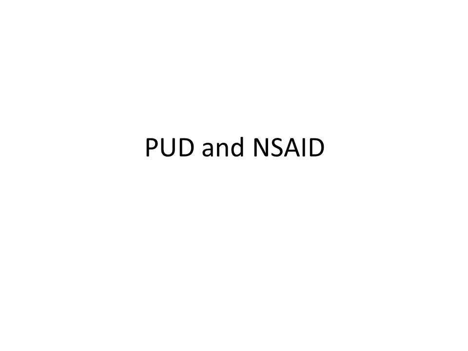 PUD and NSAID