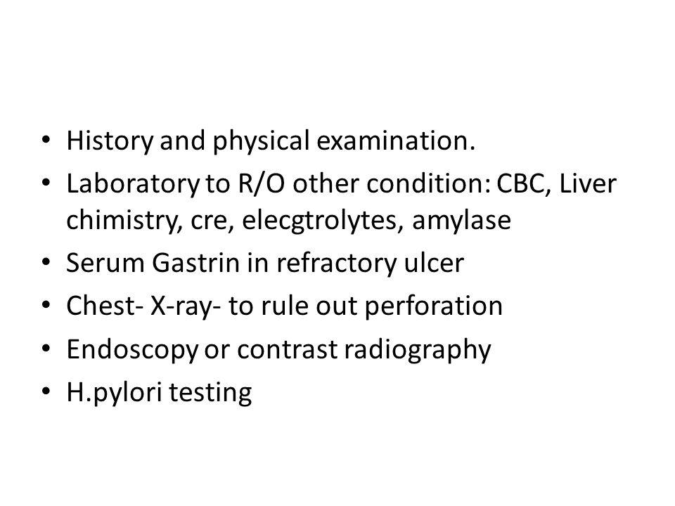 History and physical examination.