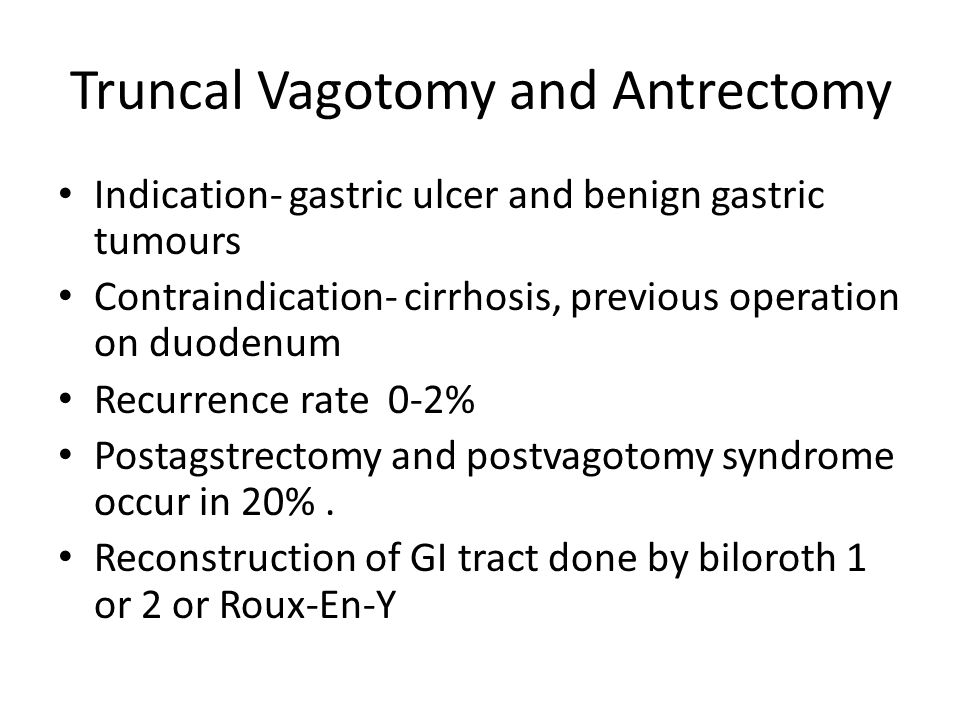 Truncal Vagotomy and Antrectomy