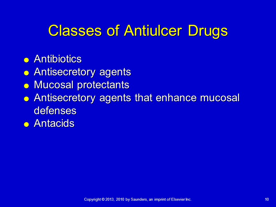 Classes of Antiulcer Drugs