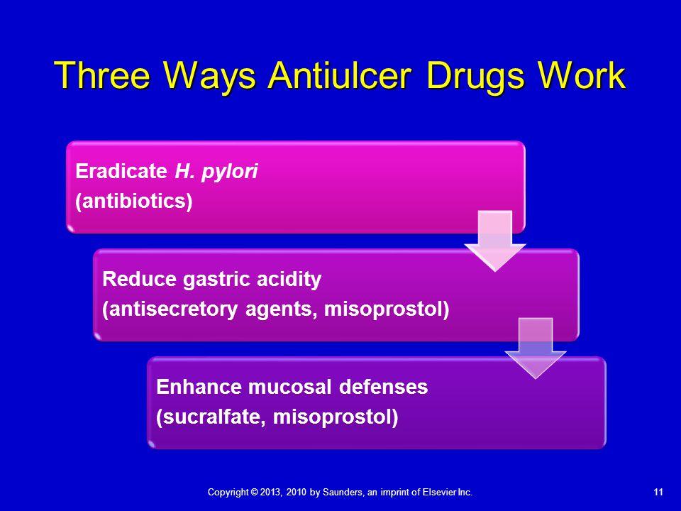 Three Ways Antiulcer Drugs Work