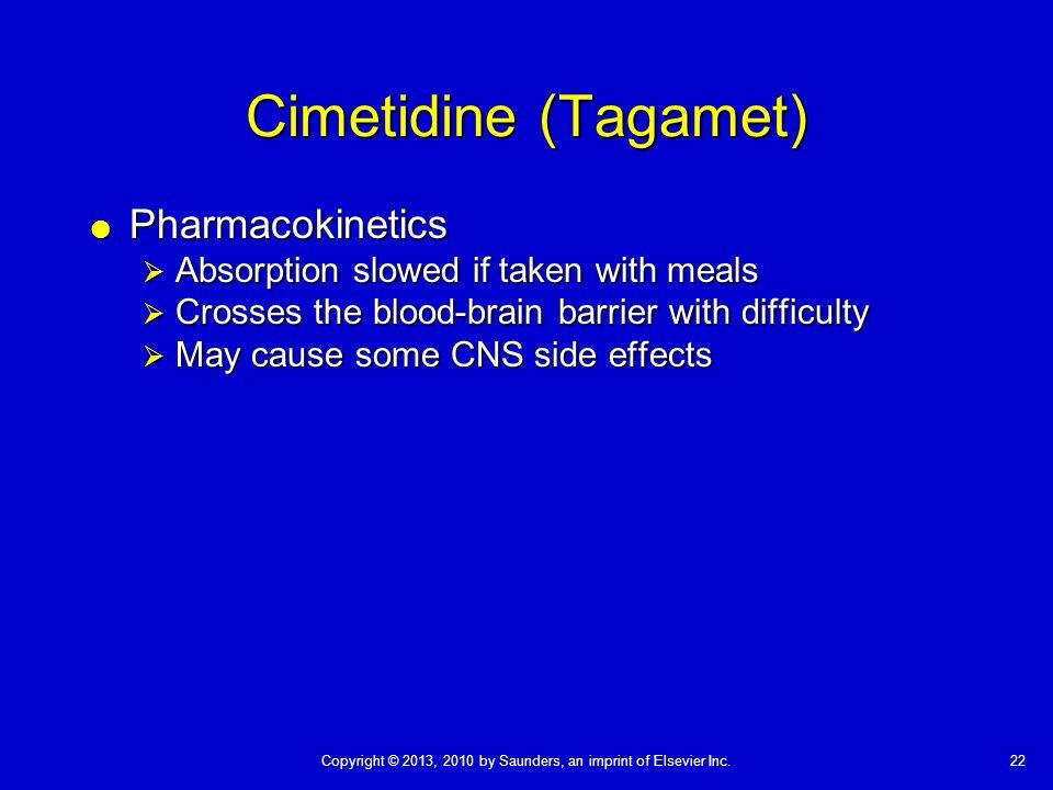 Cimetidine (Tagamet) Pharmacokinetics