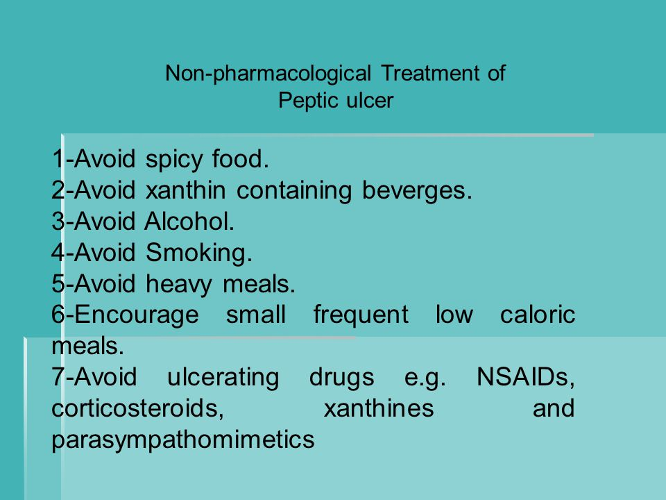 Non-pharmacological Treatment of Peptic ulcer