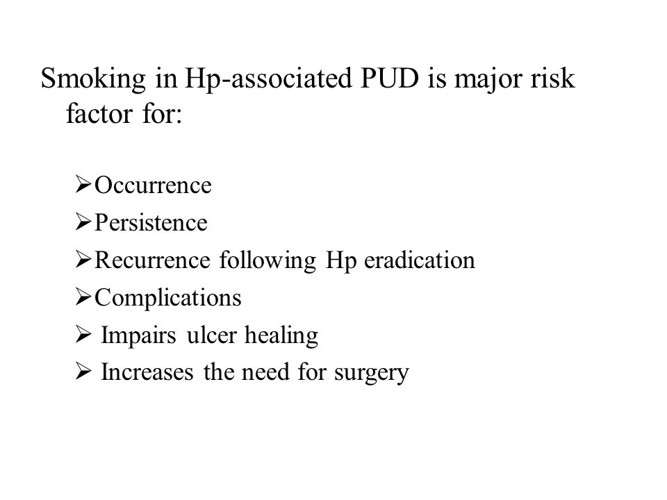 Smoking in Hp-associated PUD is major risk factor for: