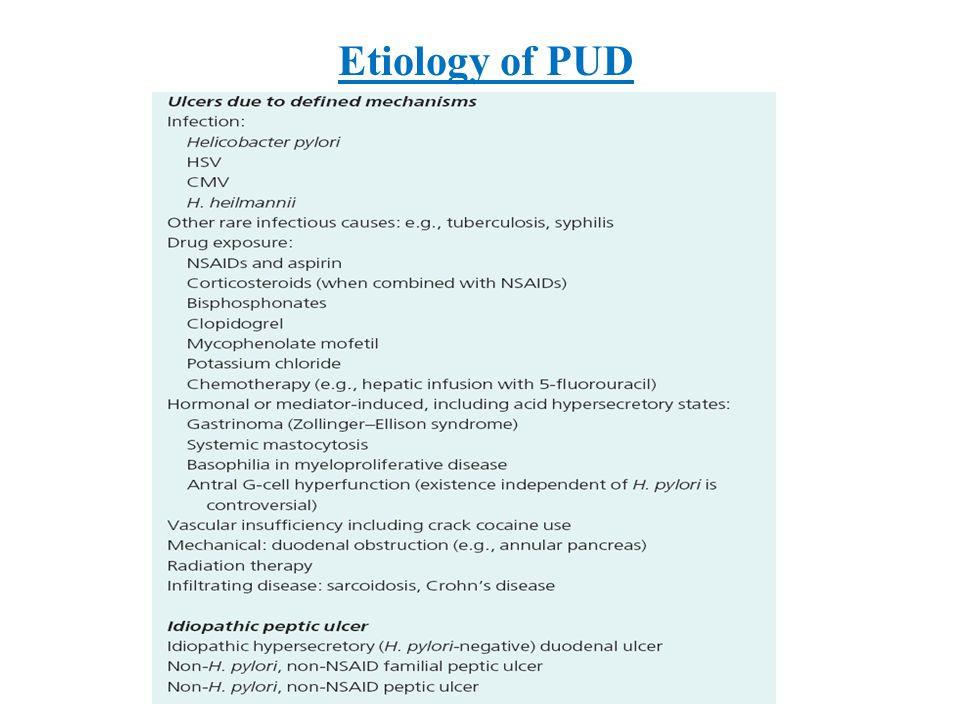 Etiology of PUD