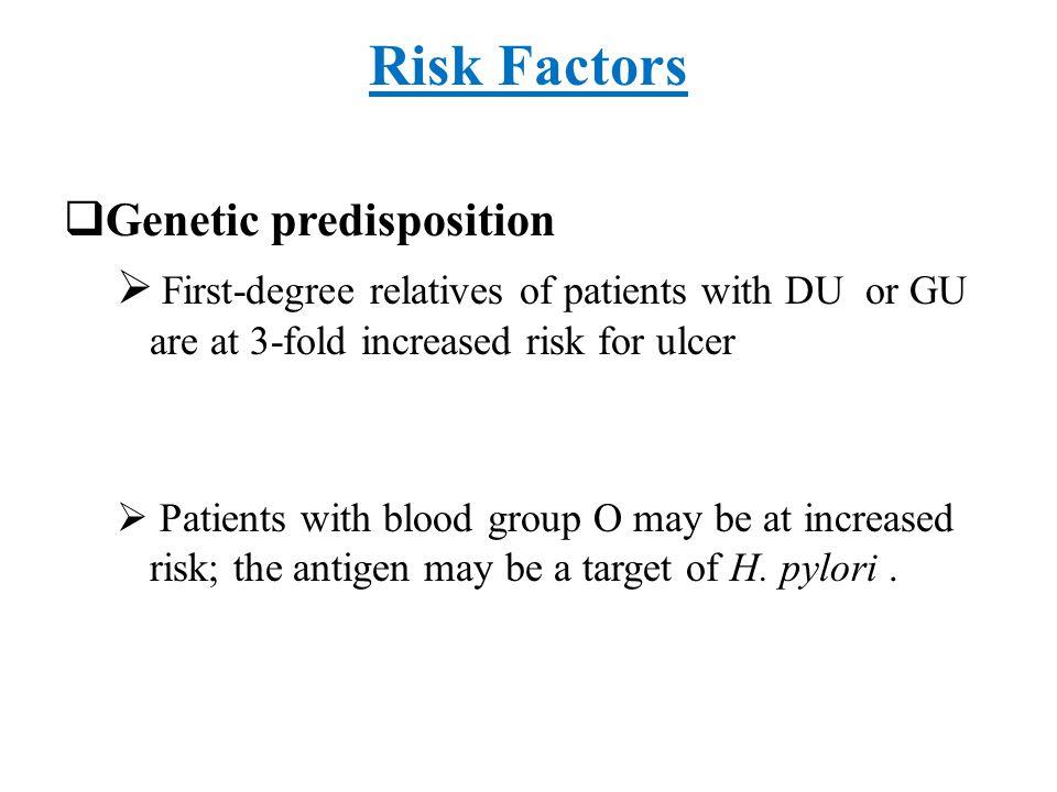 Risk Factors Genetic predisposition