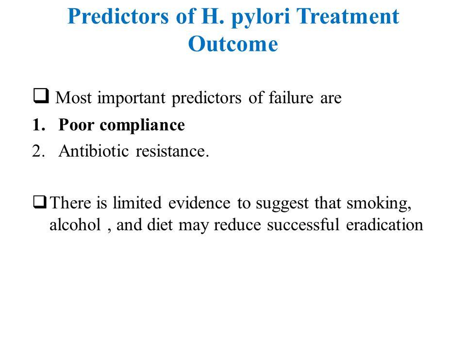 Predictors of H. pylori Treatment Outcome