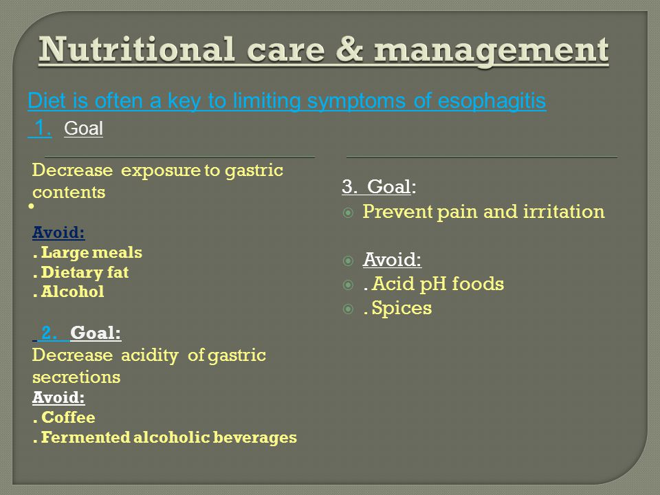 Nutritional care & management