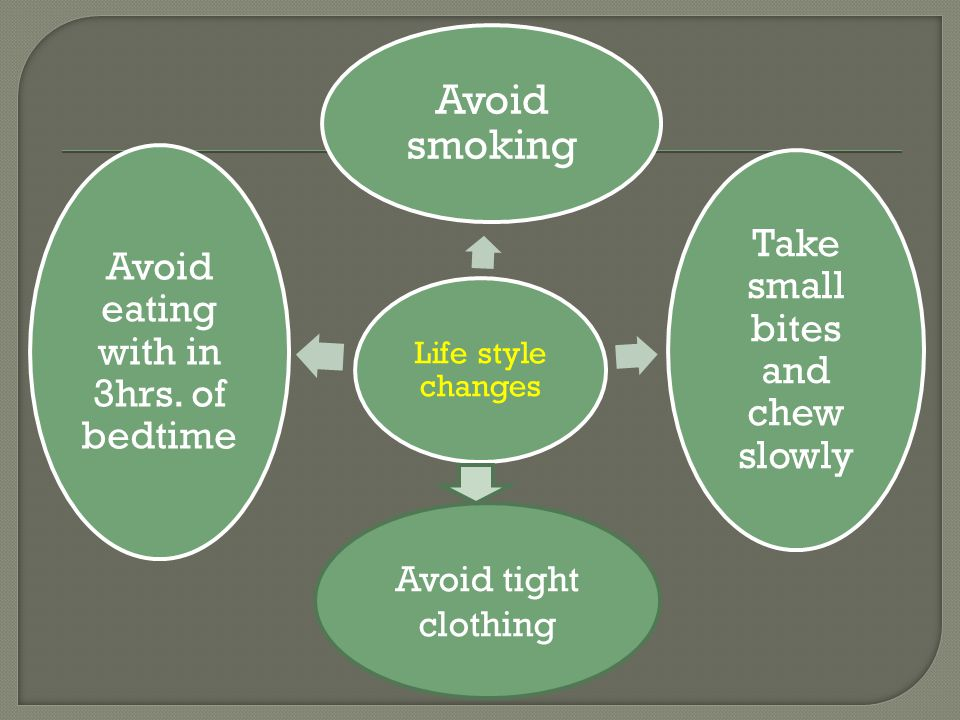 Avoid smoking Avoid tight clothing Life style changes
