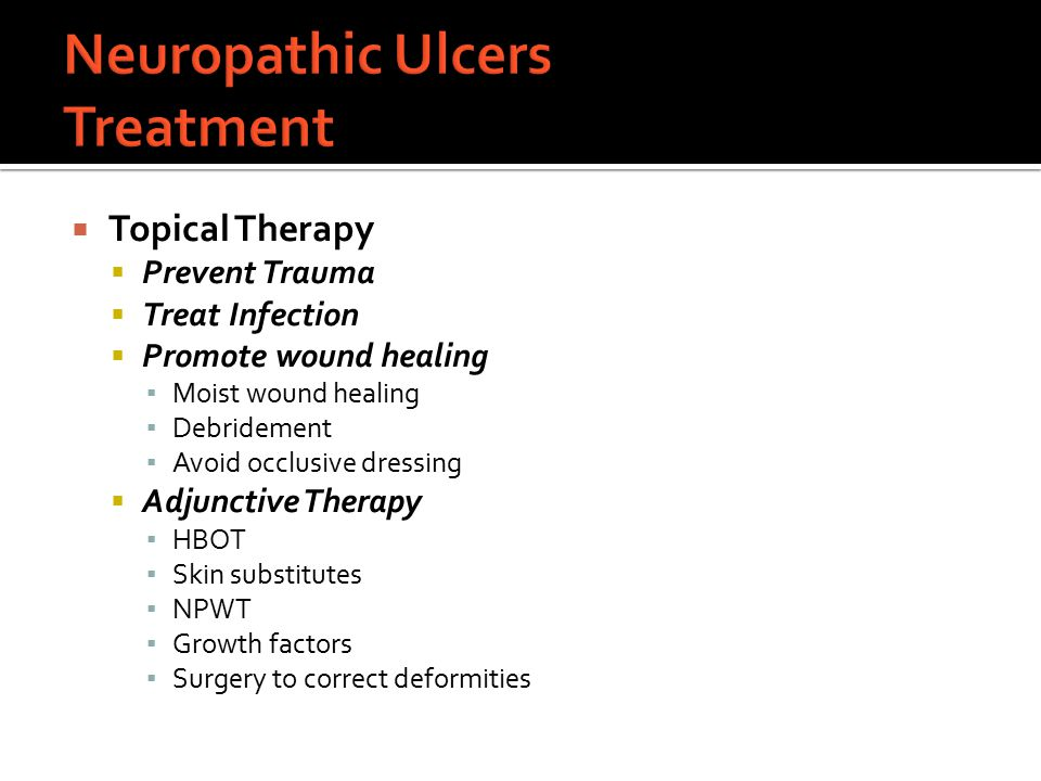 Neuropathic Ulcers Treatment