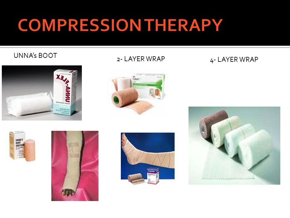 COMPRESSION THERAPY UNNA's BOOT 2- LAYER WRAP 4- LAYER WRAP