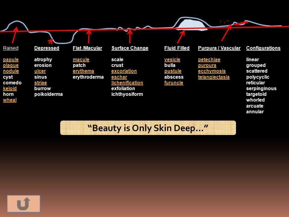 Beauty is Only Skin Deep…