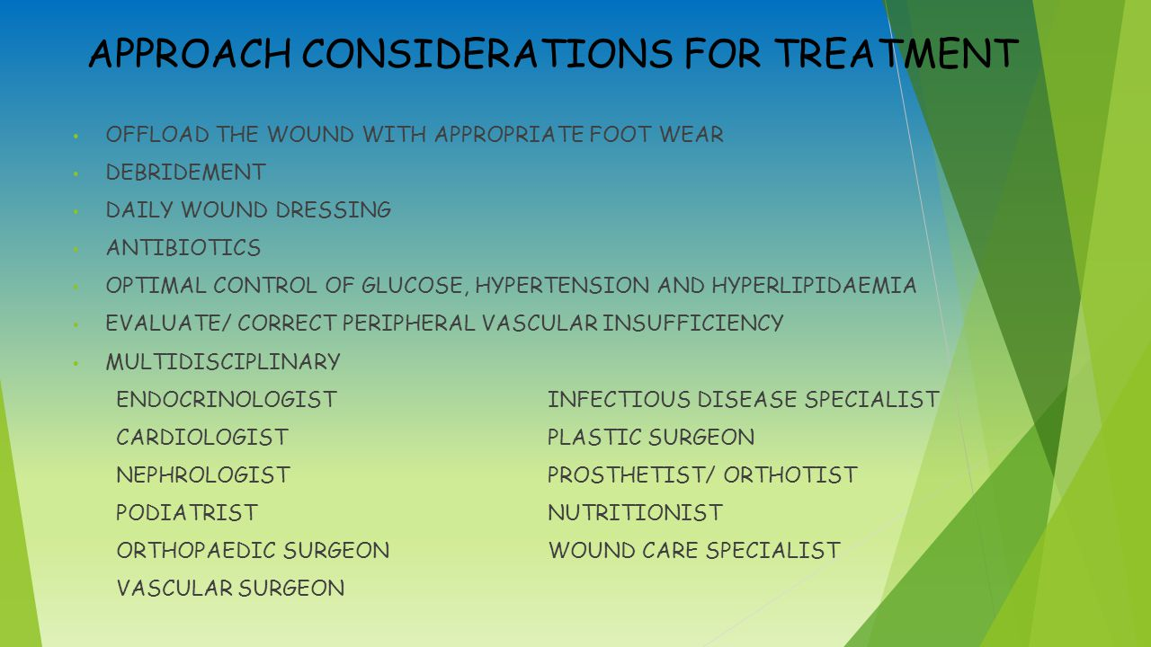 APPROACH CONSIDERATIONS FOR TREATMENT