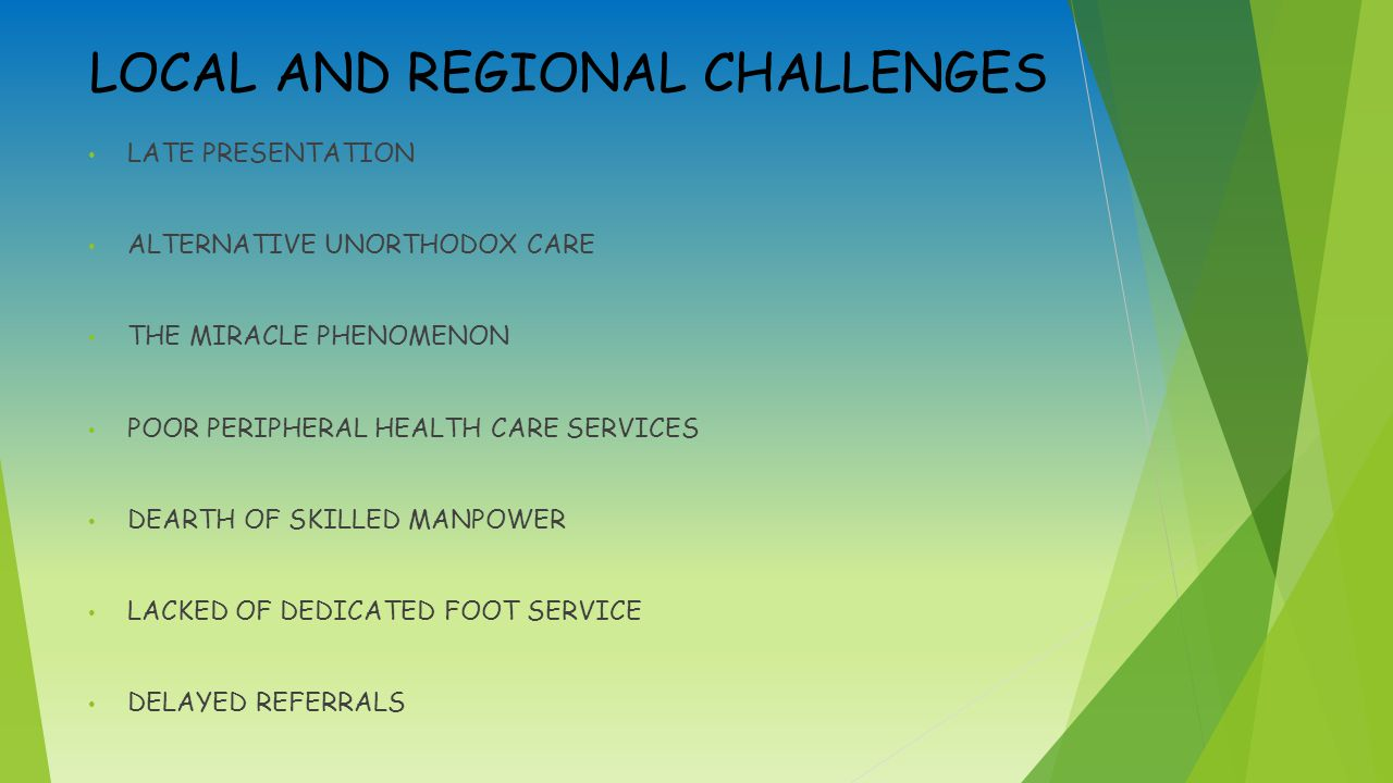 LOCAL AND REGIONAL CHALLENGES