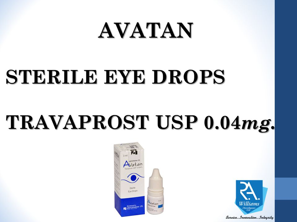AVATAN STERILE EYE DROPS TRAVAPROST USP 0.04mg.