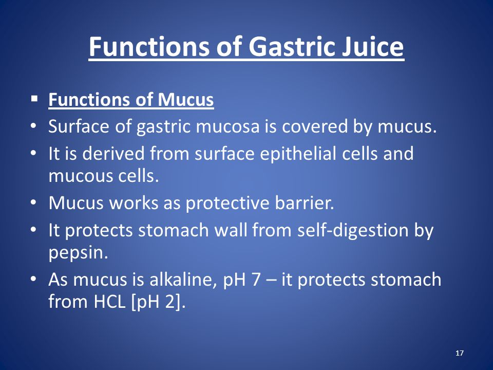 Functions of Gastric Juice