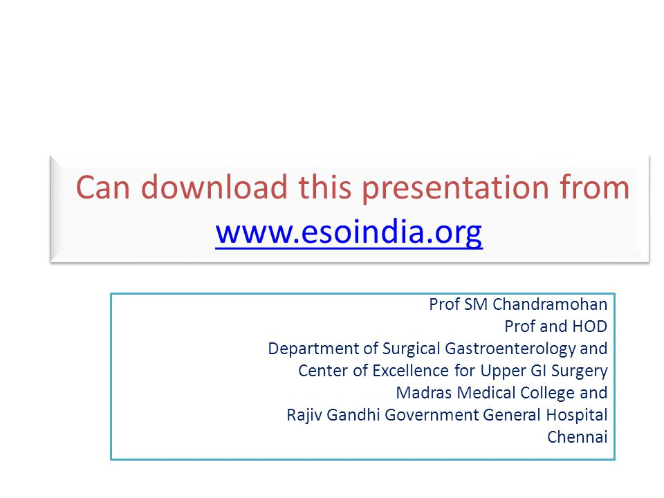 Can download this presentation from www.esoindia.org