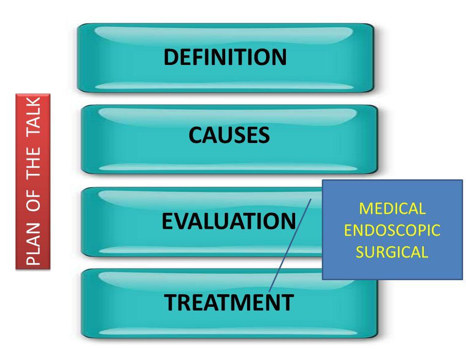 DEFINITION CAUSES EVALUATION TREATMENT