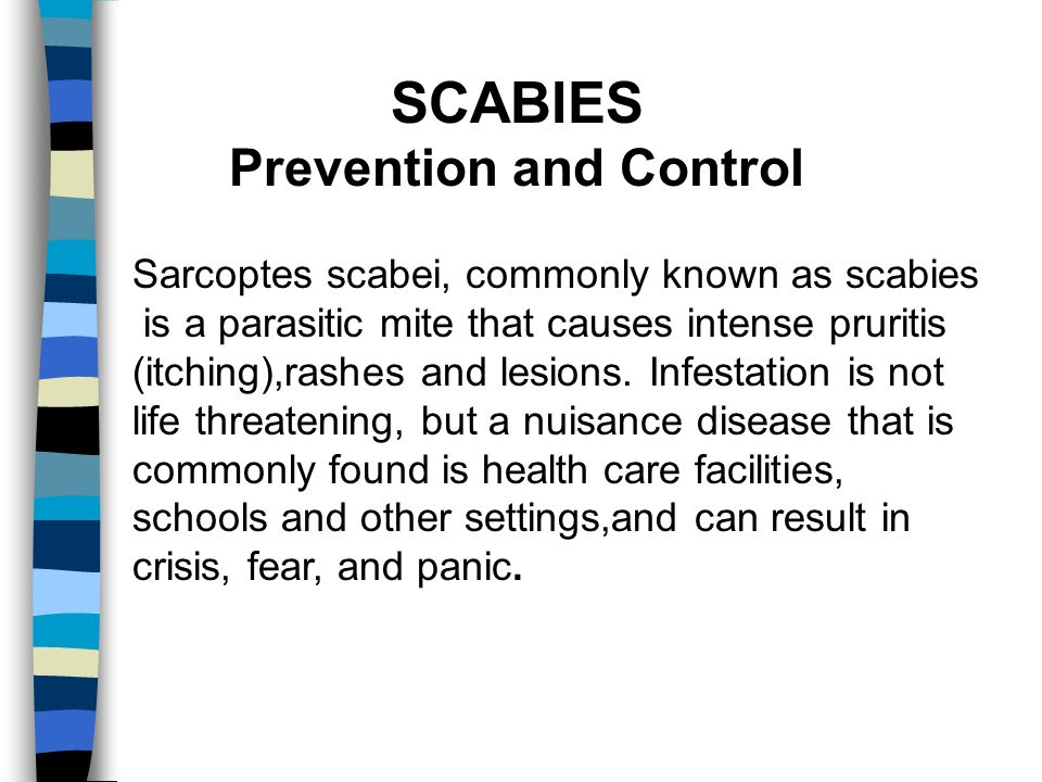 SCABIES Prevention and Control