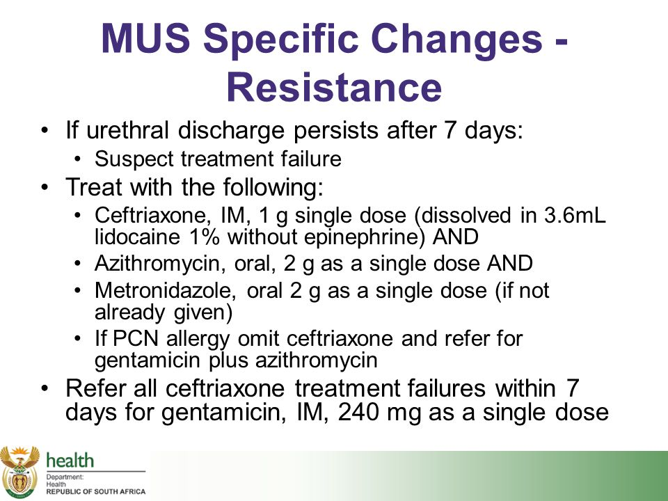 MUS Specific Changes - Resistance