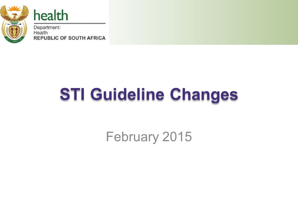 STI Guideline Changes February 2015