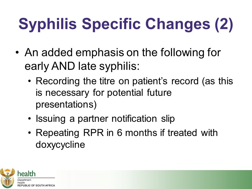 Syphilis Specific Changes (2)