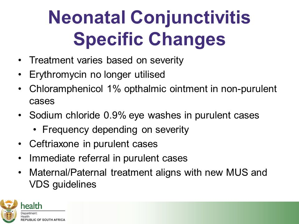 Neonatal Conjunctivitis Specific Changes