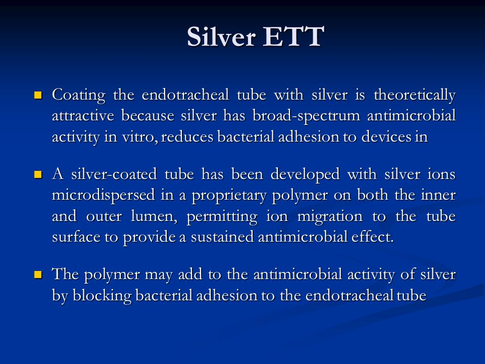 Silver ETT