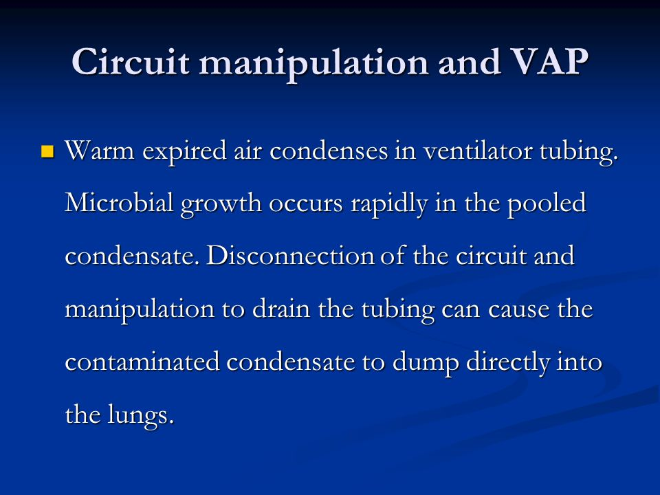Circuit manipulation and VAP